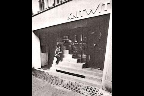 Sitting in front of Knitwit in South Molton Street, the team's first job while they were still at the AA